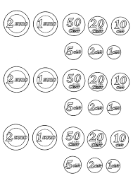 Risultati Immagini Per Euro Da Colorare E Ritagliare Matematica