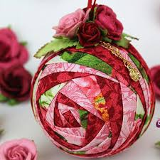 120 best quilted ball ornaments images on Pinterest | Crafts ... & Rosebud Quilted Ornament Pattern Adamdwight.com
