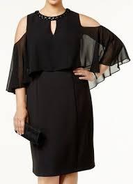 Slny New York Plus Size Beaded Cocktail Evening Cape Dress