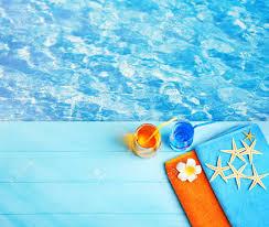 pool water background. Stock Photo - Summer Beach Set On Swimming Pool Water Background
