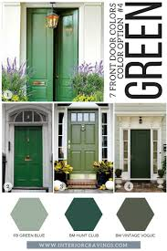 green front door7 FRONT DOOR COLORS TO MAKE YOUR HOME STAND OUT  Interior