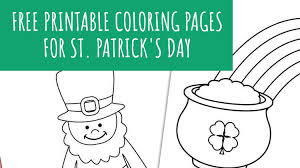 Patrick's day coloring pages in pictures from a glorious old book on saint patrick, st. Saint Patrick S Day Free Printable Coloring Pages Weheartholidays Com