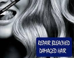 natural treatments to repair bleached damaged hair