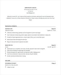 Executive Assistant Resume Templates Mesmerizing Resume Template Stay At Home Mom Black And White Administrative