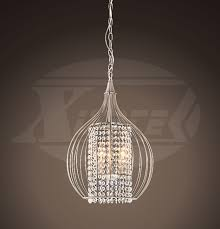misaka compact 3 lights satin nickel crystal pendant chandelier 13 5 wx20