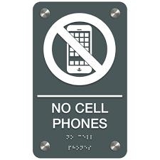 No Cellphones Premium Ada Facility Signs Seton School Safety