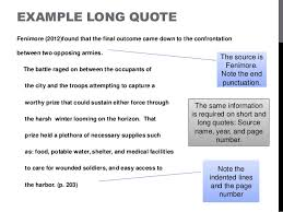 Apa Format Long Quotes Keniganamasco Best Apa Quote Format