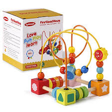 Lynncare Baby Toys for 1 year old Bead Maze Wooden Educational toddlers toys 2 3 4-5 6 boys girls children | WantItAll
