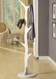 Ore Coat Rack ORE International White 100Hook Coat Rack Coat Racks Living Room 40