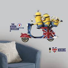 Minion Bedroom Wallpaper Minions The Movie Giant Wall Decals Wall Sticker Shop