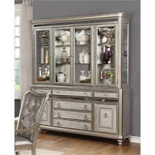 Coaster China Cabinet in Metallic Platinum