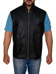men sleek black leather vest sleek black leather vest for men