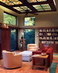 harbor breeze ceiling fan living room craftsman with accent ceiling bookcase bookshelves baseboards ceiling fan