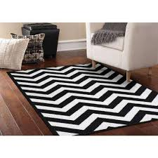 area rug large cheveron black white 5 ft x 7 ft area rug