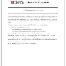 Cover Letter Nursing Student Experience Resumes