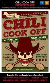chili supper flyer chili cook off flyer template chili cook off competition poster