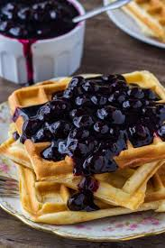 homemade blueberry sauce is not too sweet and bursting with berries make it with fresh