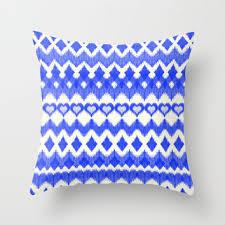 cobalt blue throw pillows. Contemporary Blue Ikat Pattern In Cobalt Blue U0026 White Throw Pillow By Micklyn With Pillows U