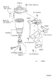 Toyota corollacde120l fwmdyw tool engine fuel fuel filter rh japan parts eu