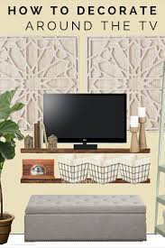 Living Room Wall Designs 25 Best Ideas About Decorating Around Tv On Pinterest Mounted