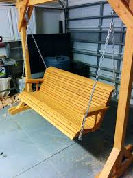 Hang Porch Swing From Tree Joist With Rope. Hang Front Porch Swing Can You  A From x How To ...