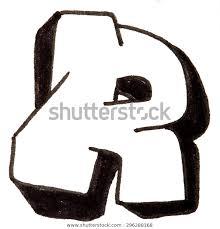 Letter R Hand Drawn Alphabet Graffitiのイラスト素材 296288168