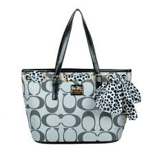Coach Legacy Scarf Medium Grey Totes EAO