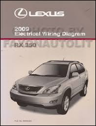 2009 lexus rx 350 wiring diagram manual original