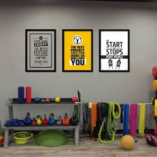 home gym wall art poster canvas painting motivational fitness on motivational wall art for gym with gym quote wall decals art stickers design yasaman ramezani