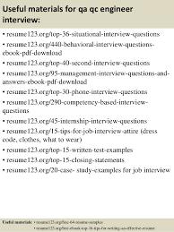 top  qa qc engineer resume samples