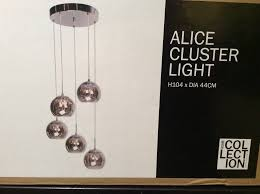 alice clear crystal glass and smoked lamp shade cer light
