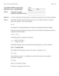 archimedes principle equation. archimedes principle equation