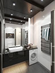 Das Bad In Schwarz Weiß Wirkt Elegant Und Modern Laundry Room Idea