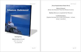 Mission Statement Template - Microsoft Word Templates