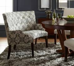 upholstered dining bench with low back
