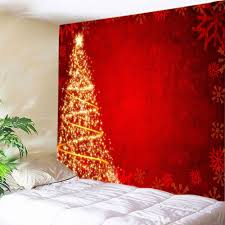 red w91 inch l71 inch stars tree print tapestry wall hanging art decoration naukdg