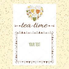 Tea Menu Template Cafe Menu Template Design With Shape Of
