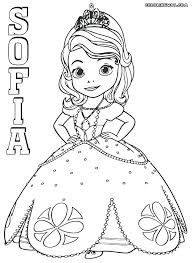 Sofia The First Pictures To Color E8091 The First Coloring Page 3