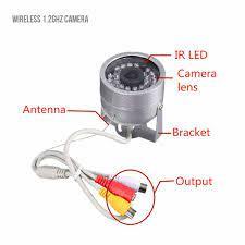 1,2G Wireless Kamera Kit Radio AV Receiver Mit Netzteil Überwachung Home  Security Mit 30 LED
