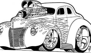 Small Picture Hot rod coloring pages to download and print for free