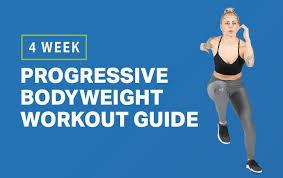 4 week progressive bodyweight workout