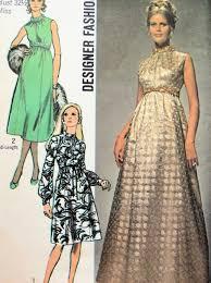 Designer Sewing Patterns Gorgeous 48 EVENING DRESS PATTERN 48 LENGTHS EMPIRE WAIST SIMPLICITY
