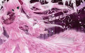 Pink Anime Wallpaper on WallpaperSafari