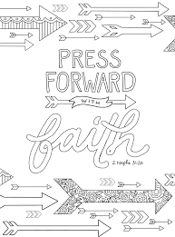 Small Picture just what i squeeze in Press Forward with Faith coloring