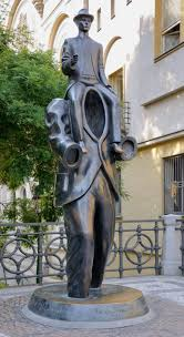 the basic needs of gregor samsa in franz kafka s the monument to franz kafka by the sculptor jaroslav roacutena 2003 next to the