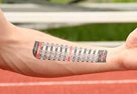 4k Pace Chart Pacetat Kilo Temporary Pacing Tattoo Kilometer Splits Full And Half Marathon Finish Times