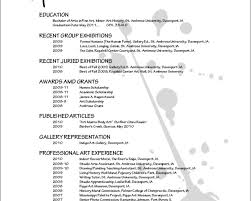 Stunning Artist Resume Template Word Pictures Inspiration Resume