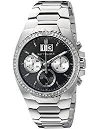 amazon com wittnauer clothing shoes jewelry wittnauer mens wn3049 30mm stainless steel silver watch bracelet