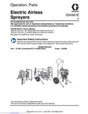graco 390 pc manuals graco 390 pc operation parts 50 pages electric airless sprayers