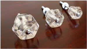 1 5 inch clear glass cabinet knobs pulls vintage dresser drawer hardware the kings bay